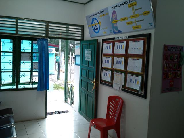 Ruang Tunggu Klinik KIA KB dan Klinik Sehat/IVA